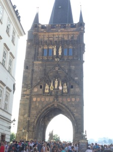 The tower at the end of St. Charles bridge, intended to keep the riffraff out