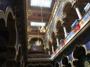 Inside of a deco-moorish-synagogue