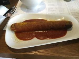 Curry wurst tastes better than it looks